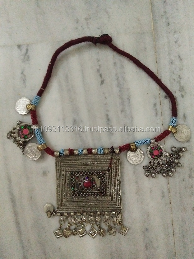 wholesale price TRIBAL VINTAGE GYPSY RARE BELLY DANCE BANJARA KUCHI COINS NECKLACE