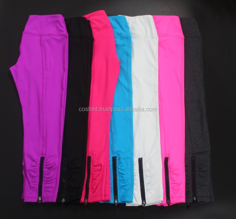 High Waist Nylon Spandex Fitness Gym Sport Slim Fit Running Yoga Pants, Active Wear, Fitness Wear, Yoga Wear, Gym Wear,Ci-21