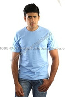 Men's fashion Plain round neck T shirt