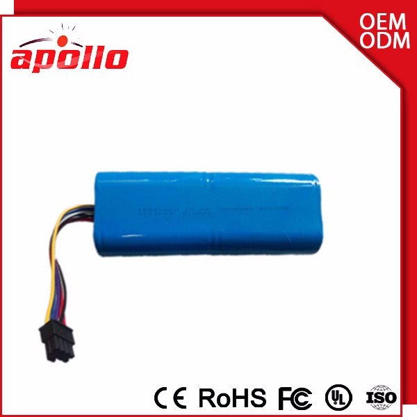4S1P 18650 14.8V li ion battery pack 2600mah power supply for solar street lamp