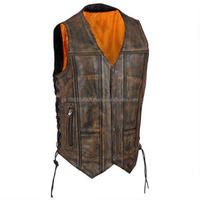 Buy men's motorcycle side lace Leather vest in China on Alibaba.com
