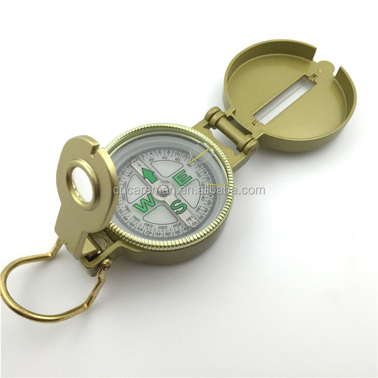 Metal Case Liquid Filled Lensatic Compass , Aluminum/Zinc Alloy Case Engineer Directional Compass OEM Orders Accepted