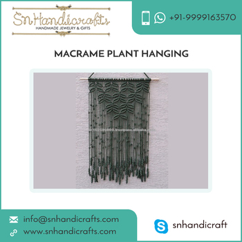 Cotton Knitted Wall Hanging Macrame Plant Hangers by Supplier