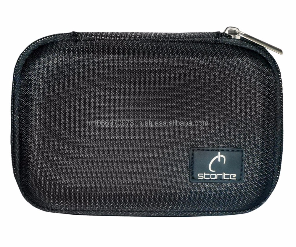 EVA PU 2.5 inch portable hard disk HDD Carry Pouch cover case protector - Black