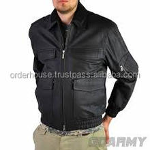 Men's Air Force Bomber Basic Coats & Jackets Winter Man Thick Fur Liner Outerwear Leather Jacket