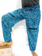 Harem Double Pocket Pants Bohemian Aladdin Genie Boho Hippy Baggy Yoga Trousers 77