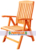 Folding Reclinning Arm Chair Teak Five Position Chairs