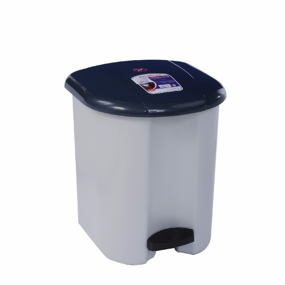Hot sales: Recycle Bin with pedal, fashion design, snugly keeps your house clean I0416-Grey