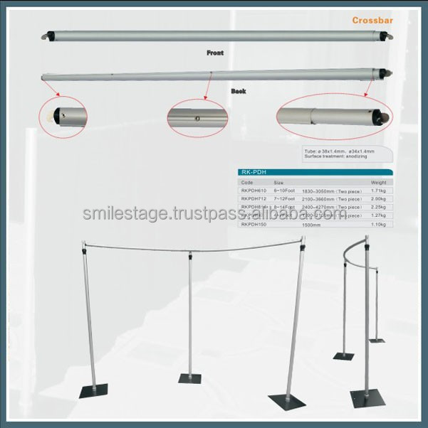 RK Aluminum backdrop stand pipe drape,cheap pipe and drape, used pipe and drape systems