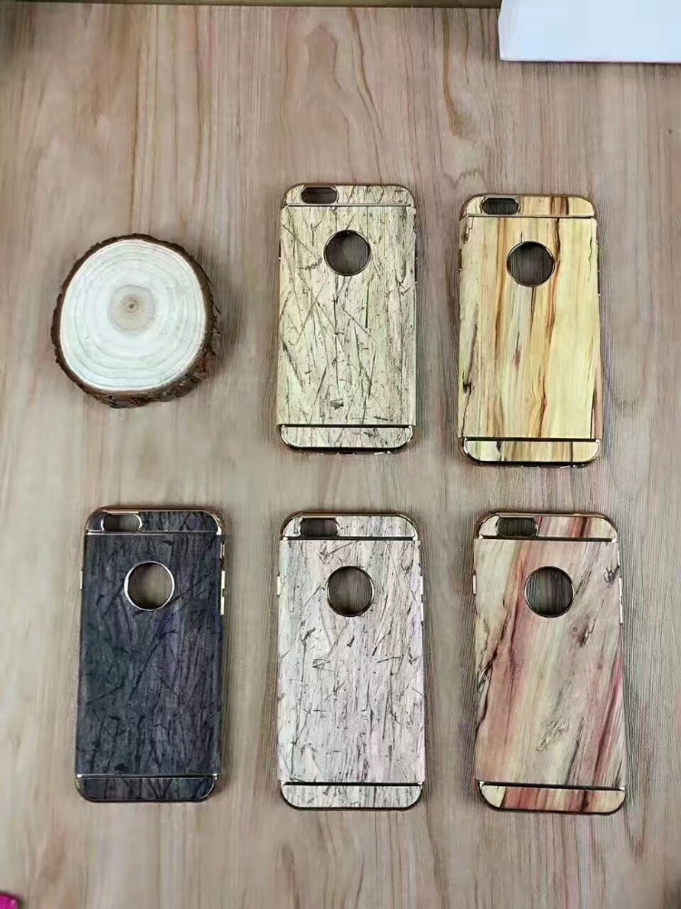 Real Natural Hard Wooden Wood Flip Stand Wallet Case Cover for Mobile Phones