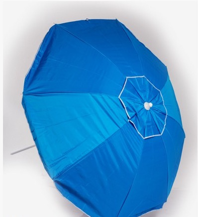 BEACH UMBRELLA ANTI UV SILVER COATED