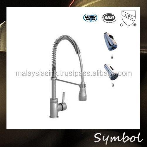 Contemporary Single Handle Two Spouts Polished Chrome upc Faucet