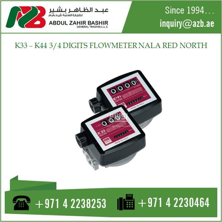K33 - K44 DIGITS FLOW METER NALA RED NORTH NT0001001
