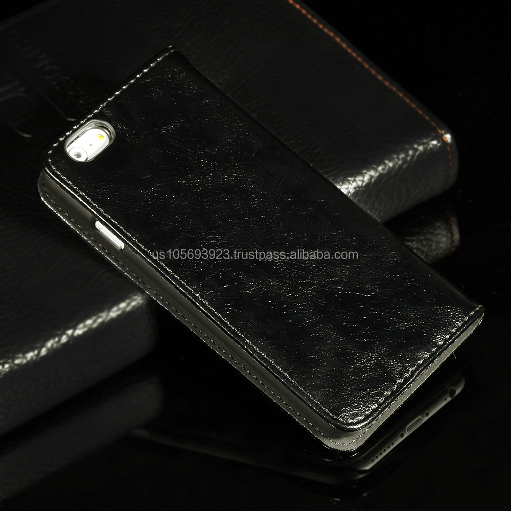 Stocks in CA,USA Gernuine Wallet Leather Case Cover For iPhone6 4.7 Screen With Credit Holder 4 Colors