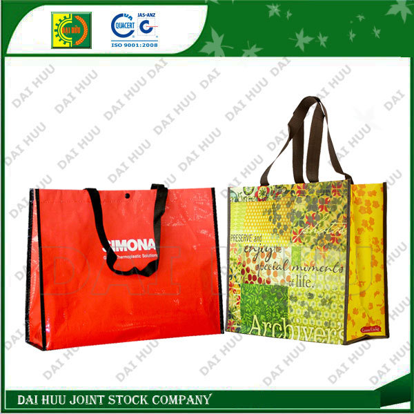 PP woven shopping bag, high quality lamination with BO PP