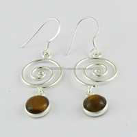 Amazing Tiger Eye !! 925 Fine Sterling Silver Jewellery Wholesale in India