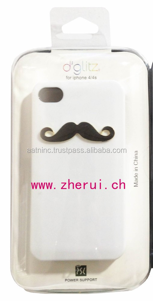 plastic smartphone cover with mustache design