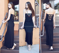 TUBE MAXI KNIT DRESS WITH CUT OUT BACK DETAIL