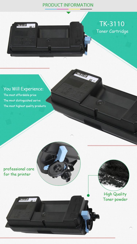 For Sale TK 3110/3112/3114 Toner cartridge spare parts for Kyocera