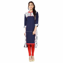 Ethnic pure cotton printed women casual wear formal kurti