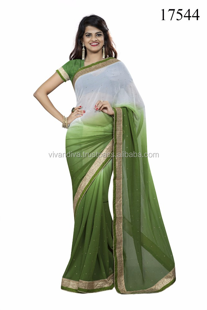 Green Color Function Wear Designer Saree