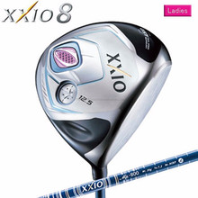 Curved design high speed XXIO 8 golf driver designed for ladies
