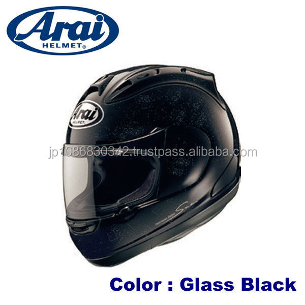 Aerodynamic ARAI helmet in various colors and sizes japan made
