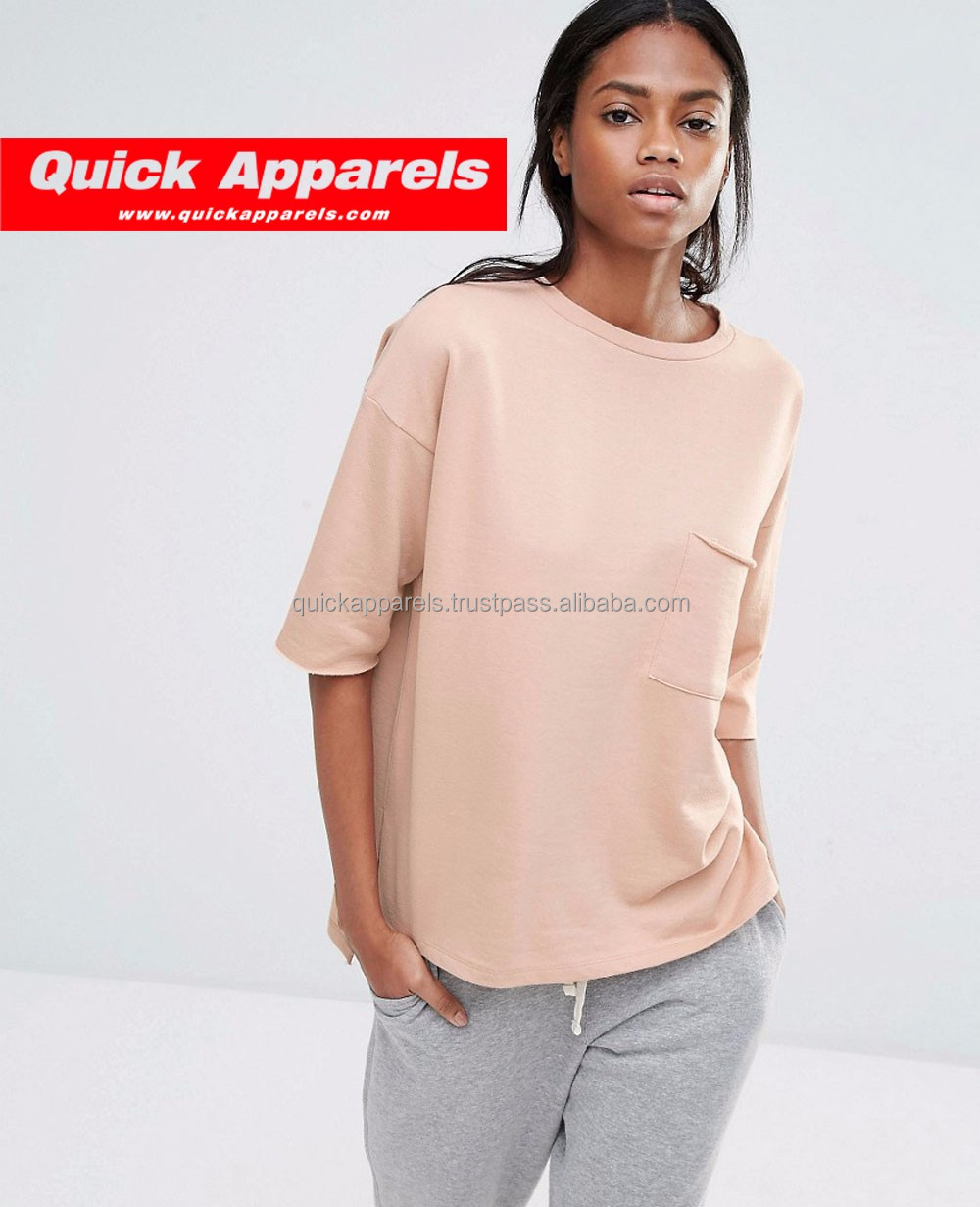 Top quality OEM custom made open shoulder long sleeves women mock neck