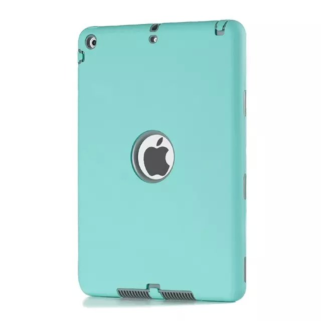 Luxury Kids Baby Safe Armor Shockproof Heavy Duty silicone flat colofull robot case cover for apple ipad mini2/3/4 and ipad 5/6
