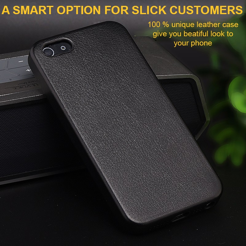 New arrive Leather Mobile Phone Case Protective Back Cover For iPhone 5