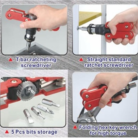 Function hand tool kit - 15 in 1 Ratchet Screwdriver kit