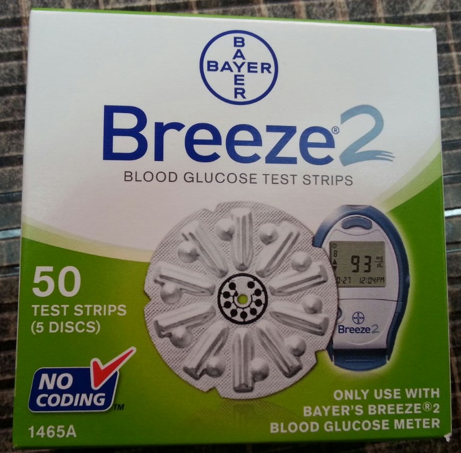BREEZE2 BLOOD GLUCOSE TEST STRIPS
