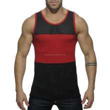 Two tone high quality swim tank tops/Center panel high quality swim tank tops