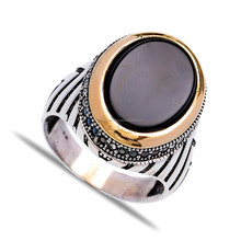 For Men Wholesale 325 Handcrafted Turkish New Onyx Ring Silver Authentic Men Ring