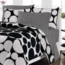 black and white wedding cotton bedsheets/bedsheet products fashion lace bedsheets jaipuri design bed sheet