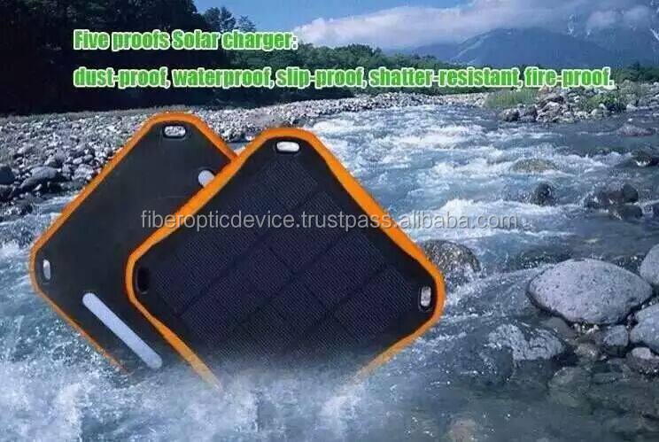 2.5W Travelling Solar Panel Dual USB Backup External Charger 5600mAh led lamp Mobile Waterproof Solar Battery