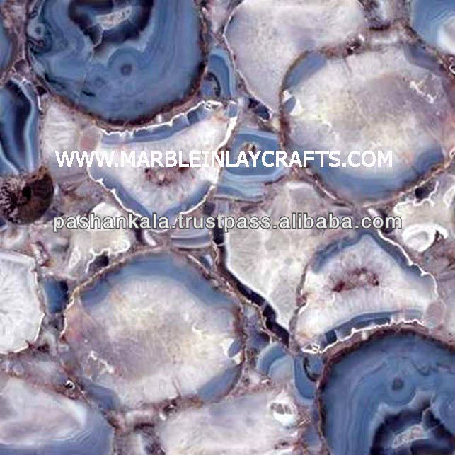 Wild Agate Backlight Tile , Agate Stone Floor Tile