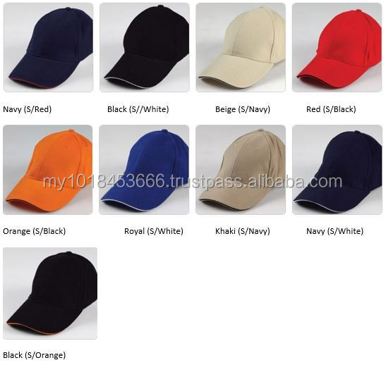 HEA1403 6- panel Brushed Cotton Cap