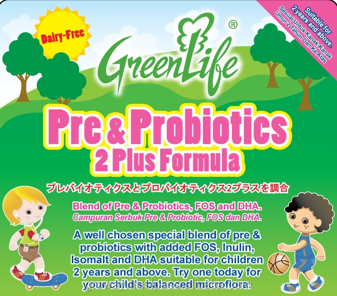 GreenLife Pre & Probiotics 2 Plus Formula