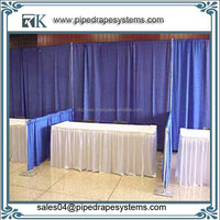 wholesale backdrop pipe and drape for luxury trade show booth aluminum adjustable pipe drape