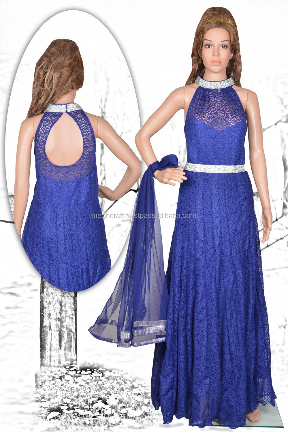 Bollywood fashion party wear gown fancy party wear gown for Floor touch gown