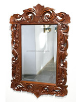 Carved wooden baroque mirror