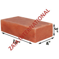 "Himalayan Natural Crystal Rock Salt Tiles Plates Slabs Size 18"" x 4"" x 3"" for BBQ Barbecue Cooking searing Serving Grilling"