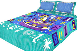 100% cartoon 3d disperse printed polyester fabric for kids /bedsheet/three pieces s et home textile