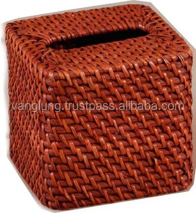 Cheap paper rattan tissue box