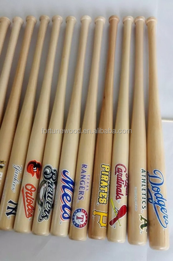 Mini birch wood baseball bat for decoration