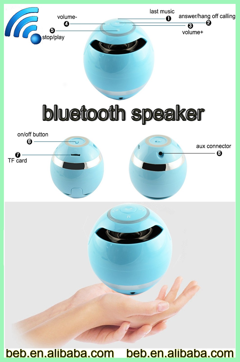 Egg shape bluetooth speaker wiress music speaker from reliable factory directly