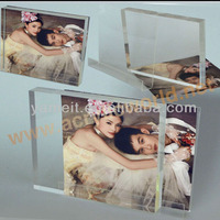 clear acrylic magnet photo frame/acrylic 5x7 magnetic photo frame
