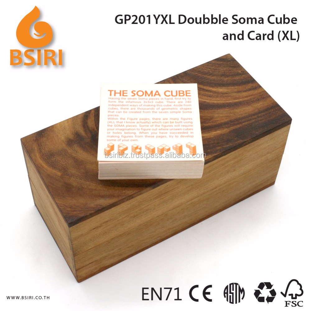 Doubble Soma Build and Card Wooden Puzzles for Kids