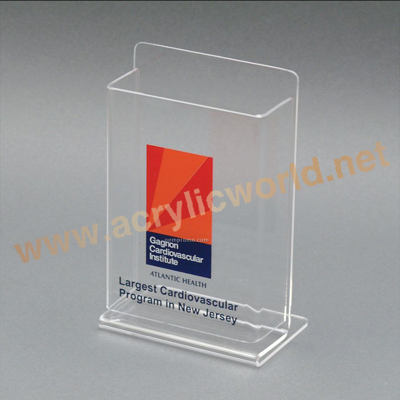 acrylic bank brochure holder with name card/acrylic wall hanging brochure holder/plastic table top brochure holder